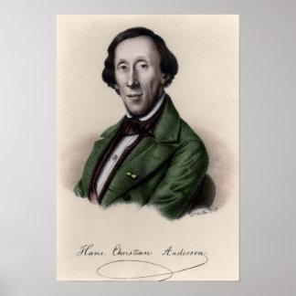 Retrato de Hans Christian Andersen 2 Póster