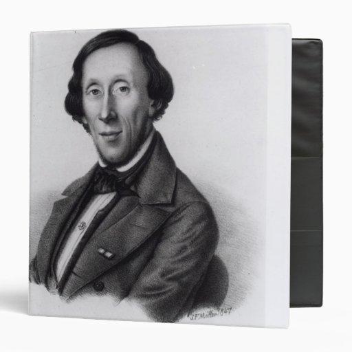 """Retrato de Hans Christian Andersen Carpeta 1 1/2"""""""