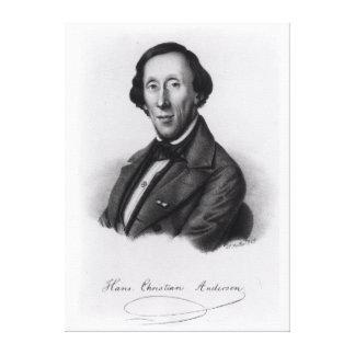 Retrato de Hans Christian Andersen Impresiones En Lienzo Estiradas