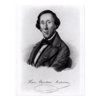 Retrato de Hans Christian Andersen Postal
