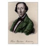 Retrato de Hans Christian Andersen Tarjetón