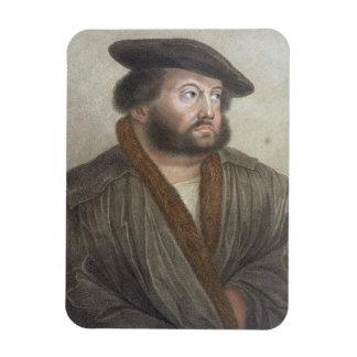 Retrato de Hans Holbein (1497/8-1543) grabado cerc Iman Rectangular
