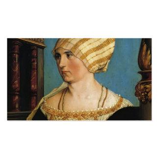 Retrato de Hans Holbein- de Doprothea Meye Tarjeta De Visita