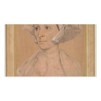Retrato de Hans Holbein- de un Englishwoman Tarjeta De Visita