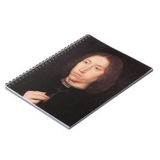 Retrato de Hans Memling- de un hombre Libros De Apuntes Con Espiral