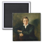 Retrato de Heinrich Heine 1831 Imán Cuadrado