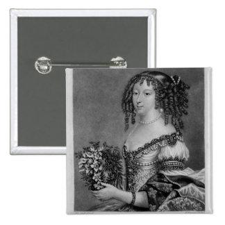 Retrato de Henrietta Anne, duquesa de Orleans Pin Cuadrado