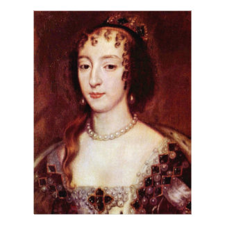 Retrato de Henrietta de la reina de Francia de Ing Tarjeton