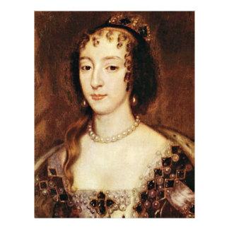 Retrato de Henrietta de la reina de Francia de Ing Flyer Personalizado