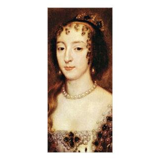 Retrato de Henrietta de la reina de Francia de Ing Plantillas De Lonas