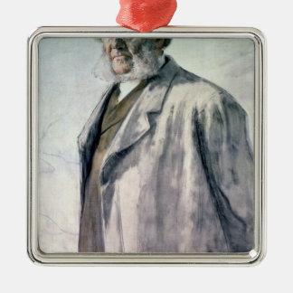 Retrato de Henrik Ibsen, 1895 Adorno Navideño Cuadrado De Metal