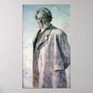 Retrato de Henrik Ibsen, 1895 Póster