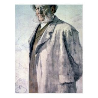 Retrato de Henrik Ibsen, 1895 Tarjeta Postal