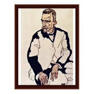 Retrato de Henry Benes de Schiele Egon Tarjeta Postal