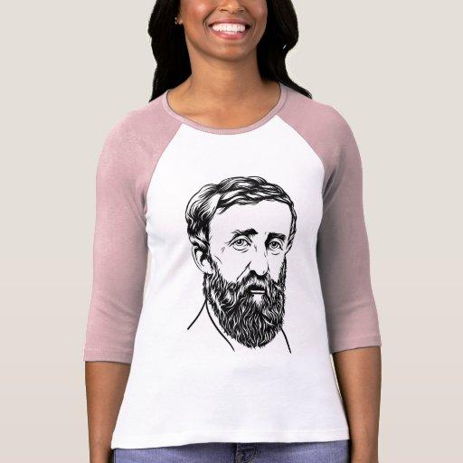 Retrato de Henry David Thoreau Playeras