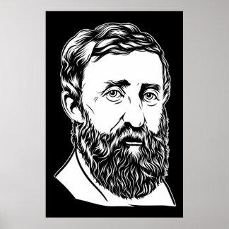 Retrato de Henry David Thoreau Póster