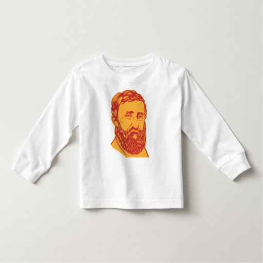 Retrato de Henry David Thoreau T Shirts