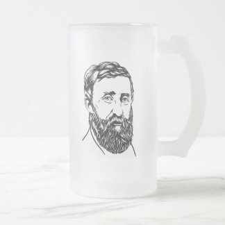Retrato de Henry David Thoreau Taza De Cristal