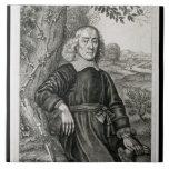 Retrato de Henry más (1614-87) frontispiece a h Azulejo Cuadrado Grande