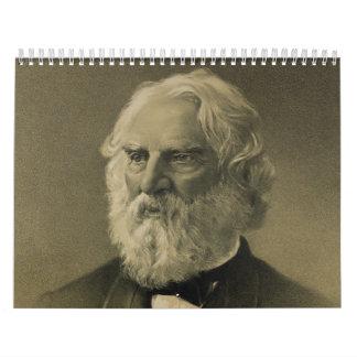 Retrato de Henry Wadsworth Longfellow (1888) Calendario