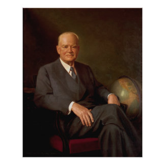 Retrato de HERBERT HOOVER de Elmer Wesley Greene Póster