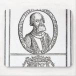 Retrato de Hernado Cortes y sus brazos Alfombrilla De Raton