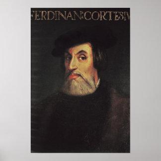 Retrato de Hernando Cortes Poster