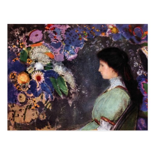 Retrato de Heyman violeta de Bertrand-Jean Redon Postal