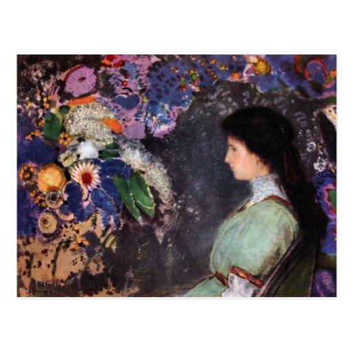 Retrato de Heyman violeta de Bertrand-Jean Redon Postales