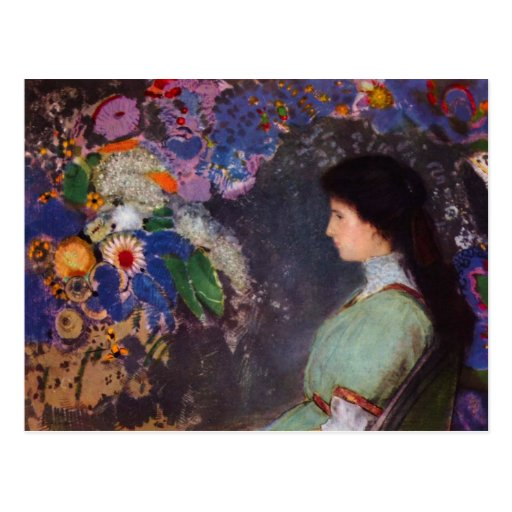 Retrato de Heymann violeta de Bertrand-Jean Redon Postales