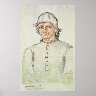 Retrato de Hieronymus Bosch Póster