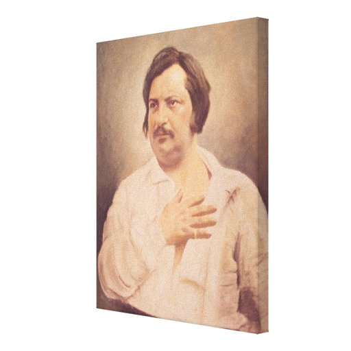 Retrato de Honore de Balzac Impresiones En Lona