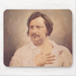 Retrato de Honore de Balzac Alfombrillas De Ratones