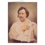 Retrato de Honore de Balzac Tarjeta De Felicitación