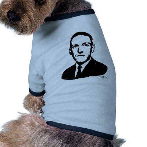 Retrato de HP Lovecraft Camiseta Con Mangas Para Perro