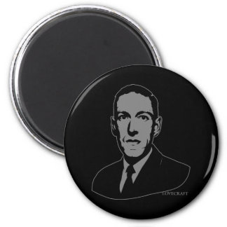 Retrato de HP Lovecraft Imán De Frigorífico
