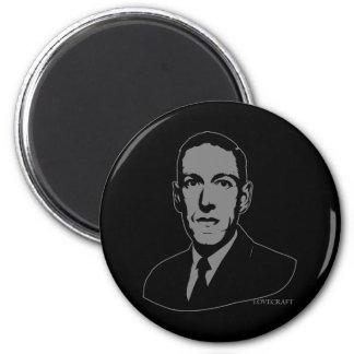 Retrato de HP Lovecraft Imán Redondo 5 Cm