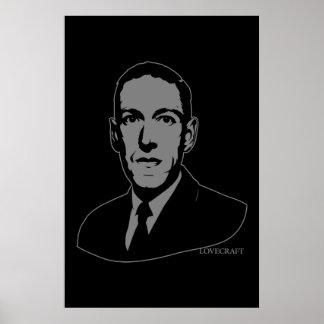 Retrato de HP Lovecraft Poster
