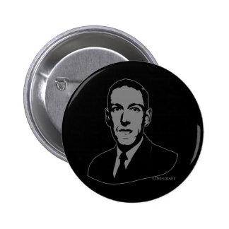 Retrato de HP Lovecraft Pin Redondo De 2 Pulgadas