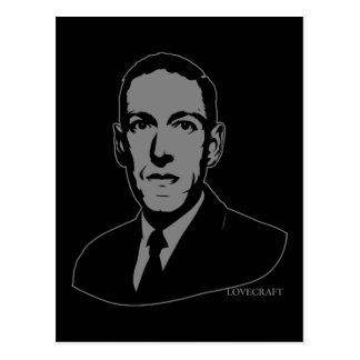 Retrato de HP Lovecraft Postal