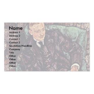 Retrato de Hugo Koller de Schiele Egon Tarjeta De Visita