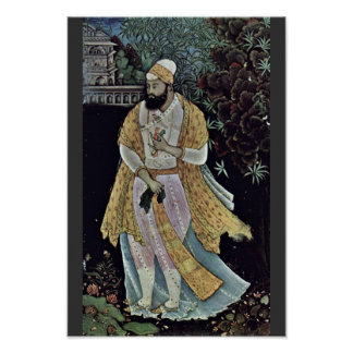 Retrato de Ibraham 'Ã, Shah Dil Ii de Bâgâpur (15 Póster