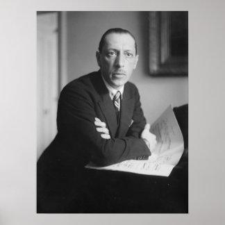Retrato de Igor Stravinsky Póster