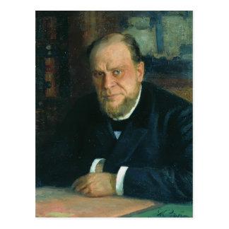 Retrato de Ilya Repin- de Anatoly Fyodorovichm Kon Tarjeta Postal