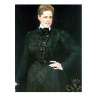 Retrato de Ilya Repin- de la condesa Sophia Panina Postales