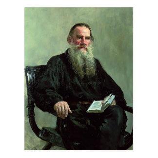 Retrato de Ilya Repin- de León Tolstói Tarjetas Postales