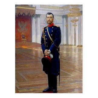 Retrato de Ilya Repin- de Nicolás II Tarjeta Postal