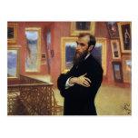 Retrato de Ilya Repin- de Pavel Tretyakov Postal