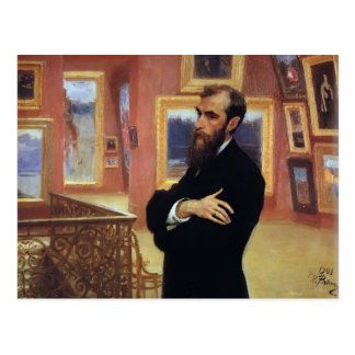 Retrato de Ilya Repin- de Pavel Tretyakov Tarjetas Postales
