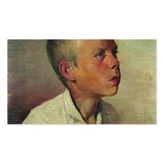 Retrato de Ilya Repin- de un muchacho Tarjetas De Visita